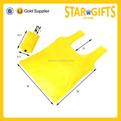 Alibaba wholesale foldable tote bag cheap yellow polyester foldable shopper bag