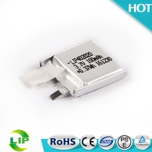 402020 ultra thin lithium polymer rechargeable 100ma li-ion lipo battery 3.7v 100mah 4mm for bluetooth headset