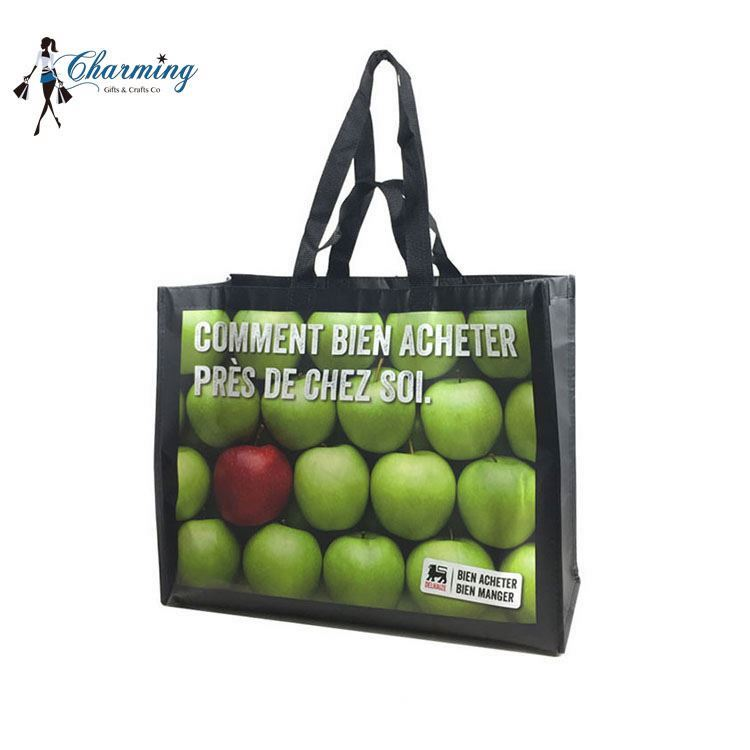 High performance customized logo style recycled polyester non woven foldable shopping bag with handle