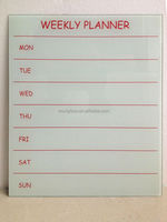 White color Magnetic Writing Board - weekly planner