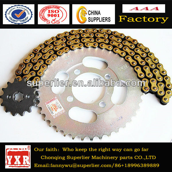 Motorcycle driving and keychain,chain and sprocket for motorcycle,high performance motorcycle transmission kit