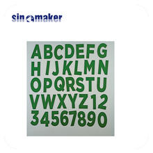 custom design MDF engraving laser cutting green letters wood