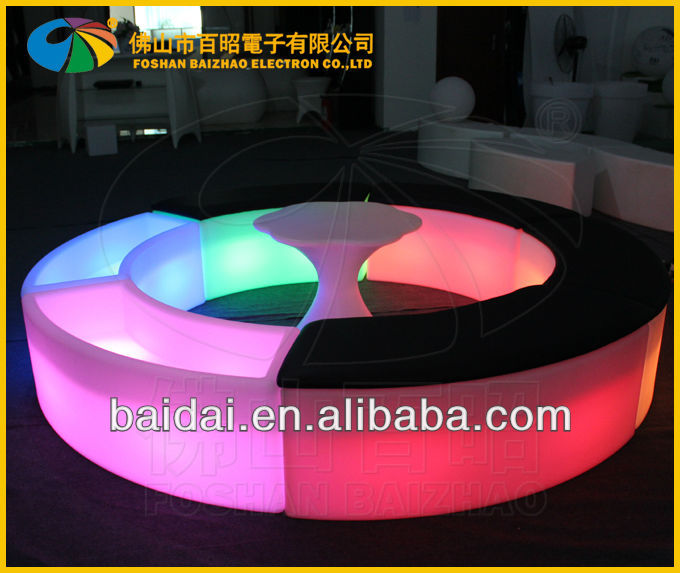 LED rechargeble battery bend stool light bar chair sofa with cushion