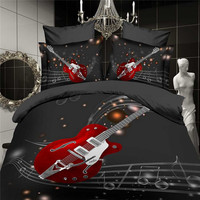 3d Bedding Sets Duvet Cover Set Bed Linens (Queen, 1 Duvet Cover+1 Flat Sheet +2 Pillowcases) -13040