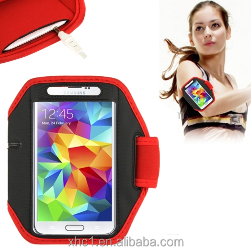 high quality, Sports Armband Case for Samsung Galaxy S5 / G900 / S IV / i9500 / i9300 (Red)
