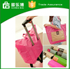 Custom Waterproof nylon travel bag attached in luggage bag large capacity foldable shopping bag
