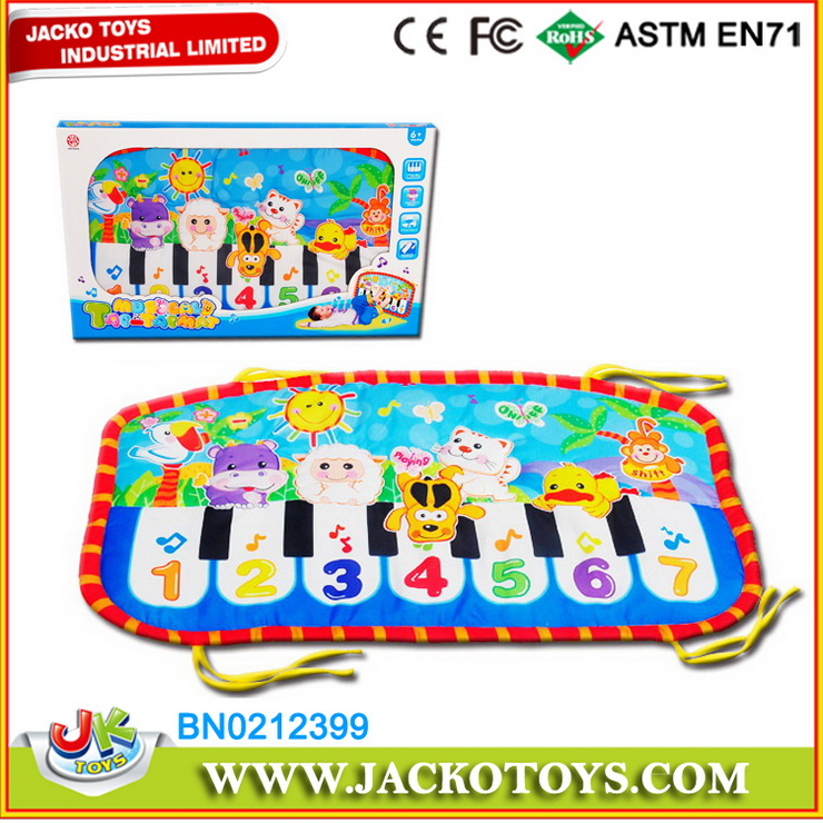 Comfortable Surface Stuffed Baby Piano Play Mat With Keyboard,Musical