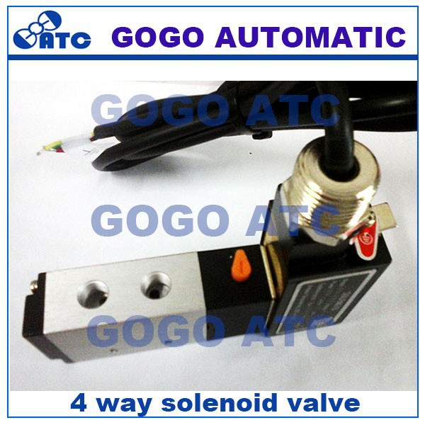 4 way solenoid valve operation, 110V 220V 12v 24v 4V210-08 4-ports electric solenoid valve, explosion proof solenoid valve