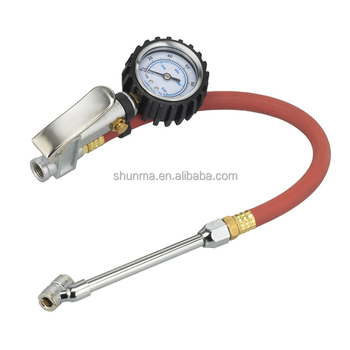 inflator tire pressure gauge with dial