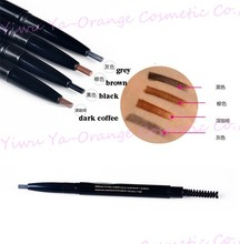 automatic eyebrow pencil with brush logo brand name OEM