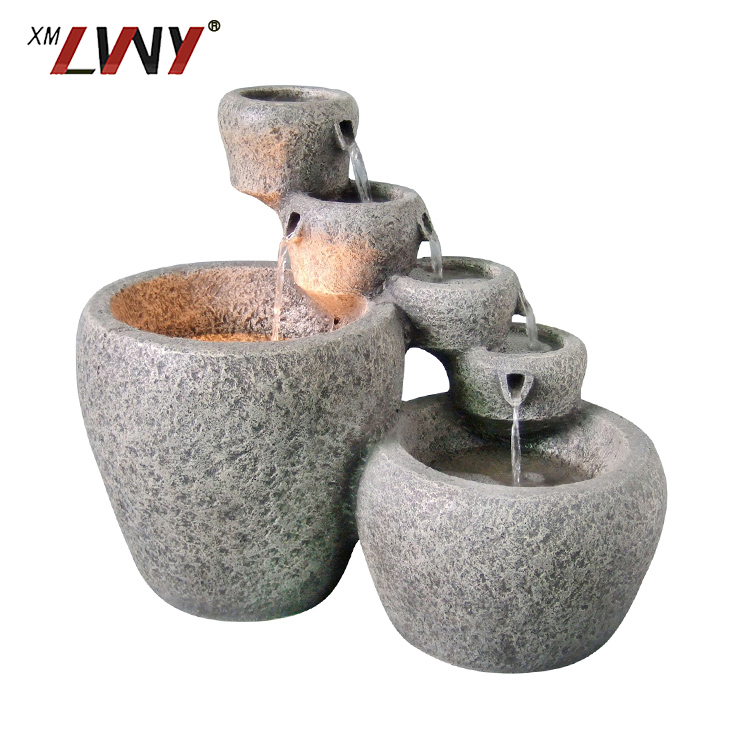 High Quality Home Decorative Teapot Shape Artificial Indoor Resin Water Fountain