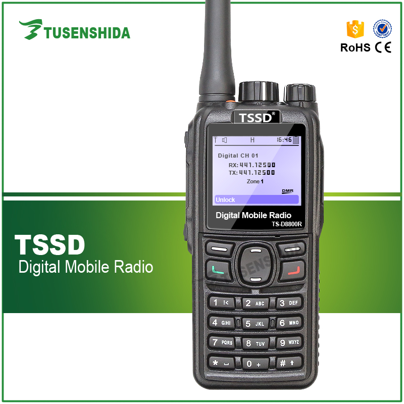 IP67 TSSD DMR digital radio GPS Positioning vhf/uhf walkie talkie compatible with MOTO/HYTRA and Repeater 1000 Channel Capacity