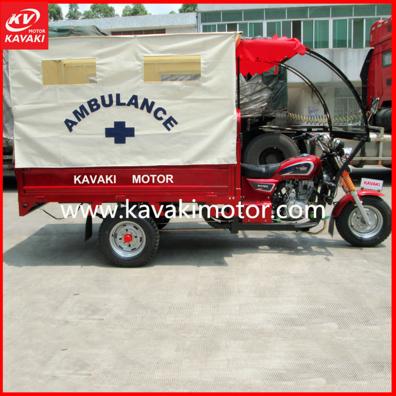 3 wheel trike/ petrol motorcycles ambulance tricycle passenger