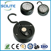 24 LED Round Magnetic Work Light Torch With Integral Hook And Magnet