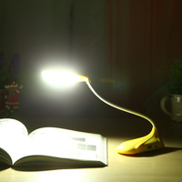 1200mA battery flexible pocketable electric LED book reading light