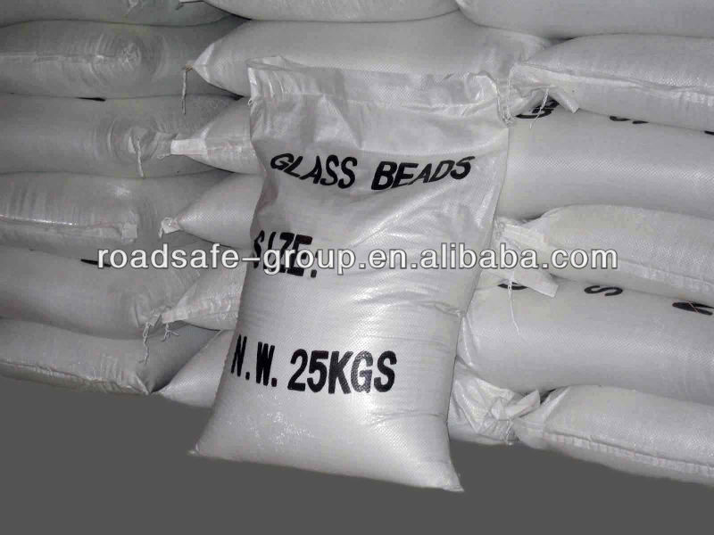 thermoplastic road marking clear glass beads