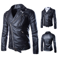 Men Leather Jacket Jaqueta De Couro Masculina Mens PU Leather Jackets Homme motorcycle fur clothing
