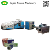 Automatic box pumping facial tissue machine production line