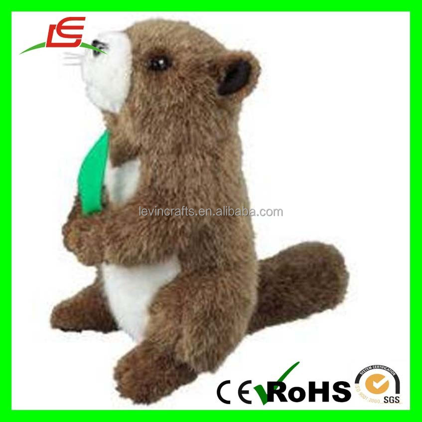 Vivid Synthetic Fur Stuffed Animal Plush Marmot