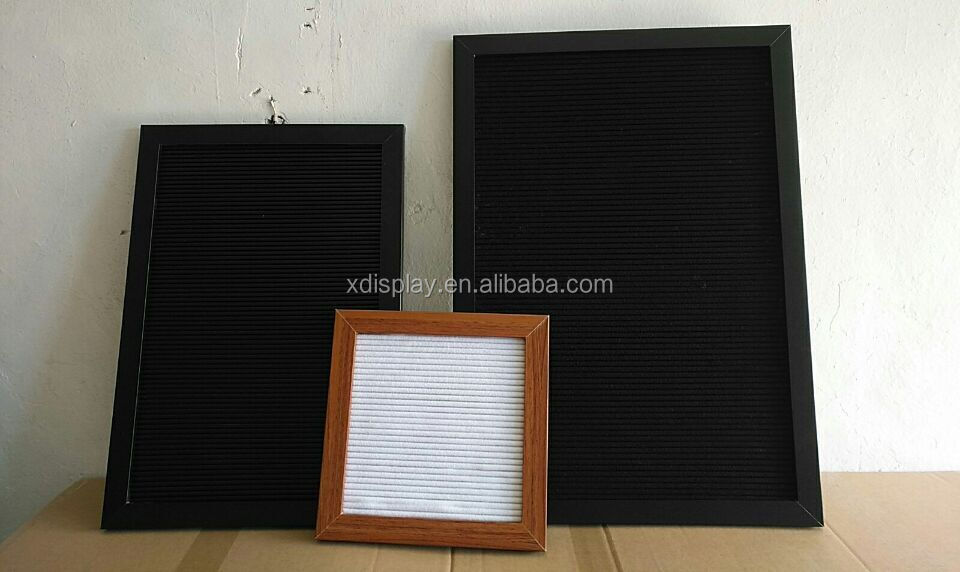 Felt letter board with many felt color, Changeable black felt letter board panel, slotted letter board/ felt letter board diy