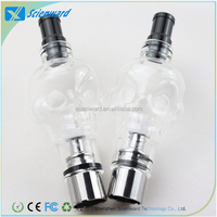 fancy smoking pipes E Cig 510 eGo thread Pyrex glass globe atomizer