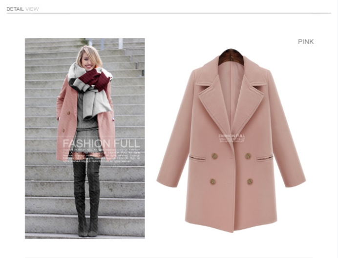 2015 Autumn And Winter Sales Of New Style Hot And Fashionable Charm Temperament Coat 655 Xl-5xl