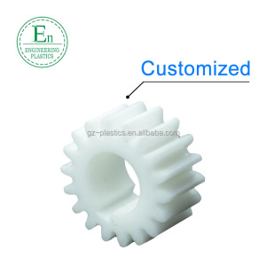 High quality nylon material plastic 0.4 gear module nylon helical gear wheel