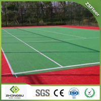 Artificial grass replacement baseketball tennis court interlocking plastic flooring tiles