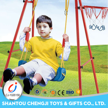 China manufacture funny indoor swing set with basketball