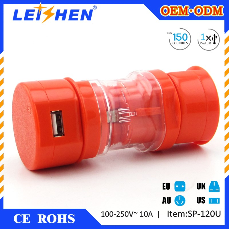 Promotional gift items Leishen brand all in one universal travel adapter