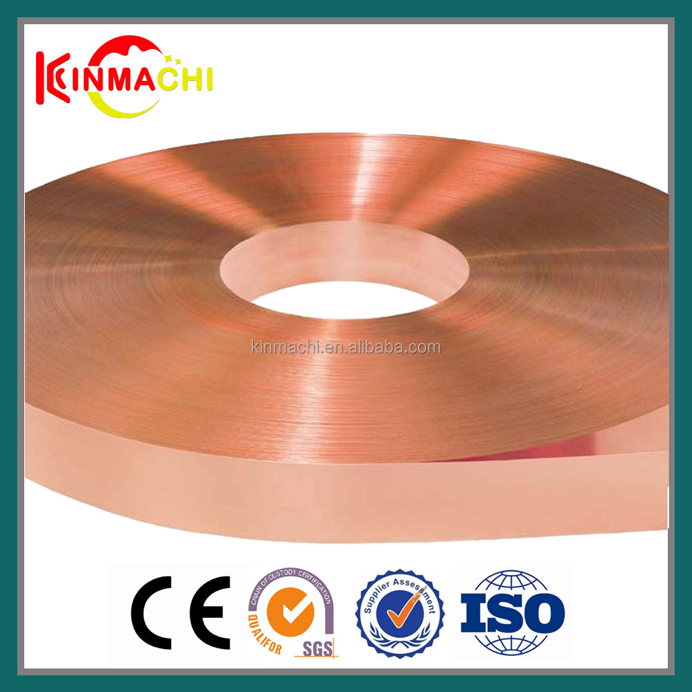 2016 high Cu percents C1100 copper strip plated for automobile electronics