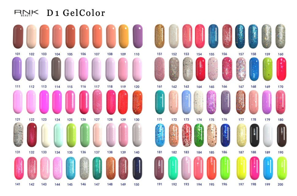 RNK Factory Price Cheap Gel Polish 308 Colors UV LED Nail Gel Polish