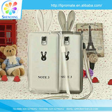 Rabbit ear TPU Bumper korea mobile phone case for samsung galaxy s2