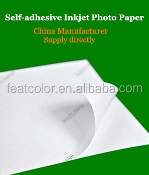 Papel autoadhesivo para impresora
