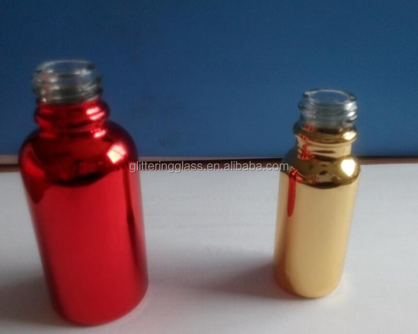 30ml different colours UV glass essential oil bottle