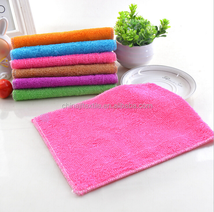 colorful bamboo fabric cleaning towel,kitchen cloth dish towel,China supplier bamboo dish cloth