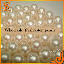 AAA White Button Loose Fresh water Pearl