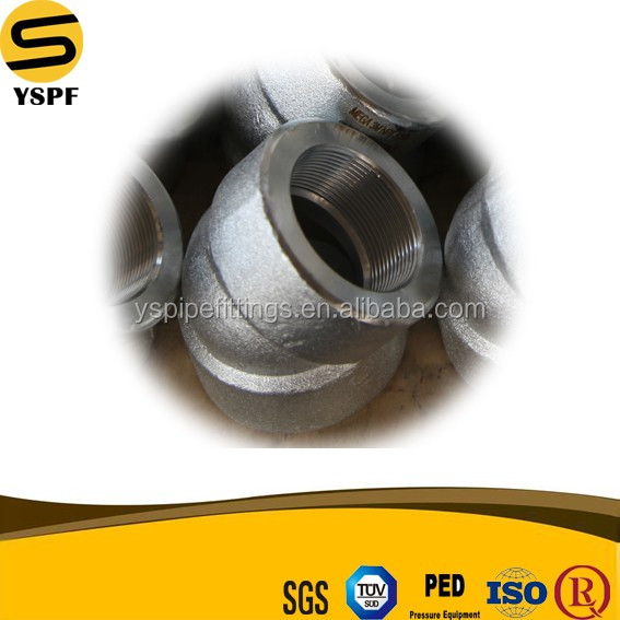 forged fittings dimensions High precision pressure Forged carbon seamless steel pipe Carbon Steel Socket Welding elbow fittings
