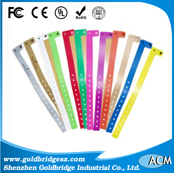 One-time use alienh3 uhf rfid paper wristband for music concert