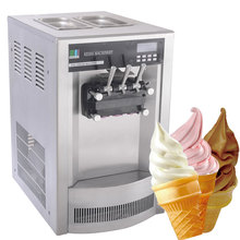 Commercial 3 flavors table top used italian soft serve ice cream machine