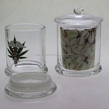China factory wholesale clear hermetic food large glass storage herb jar