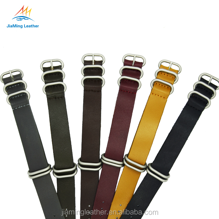 Replacement Interchangeable Leather Watch Band With Lichee pattern