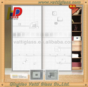 Beautiful Laminated Art Glass For Kitchen/Decorative Glass Cabinet Door
