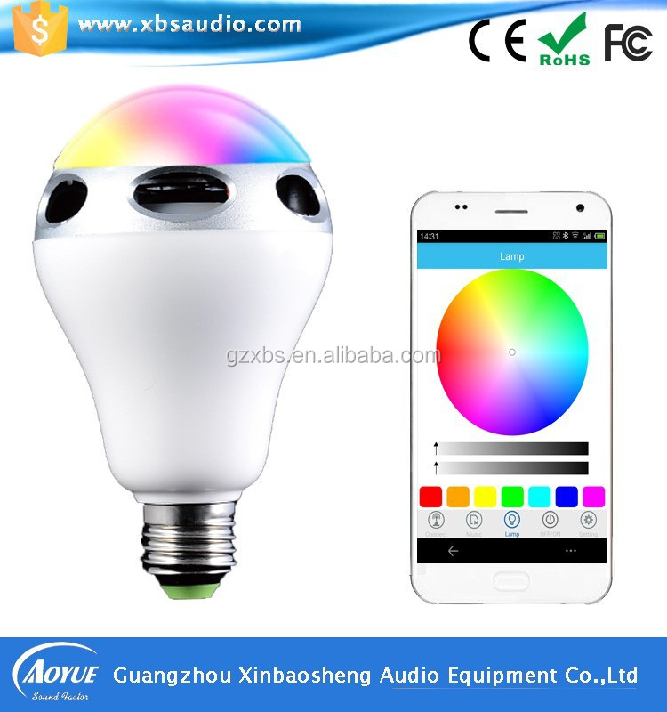 Christmas gifts 12 year old girls Bluetooth led light bulb speaker with app & remote control