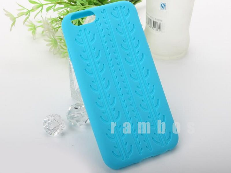 Tire Tread Soft Silicon Rubber Gel Skin Case Cell Phone Soft Back Cover for iphone 6