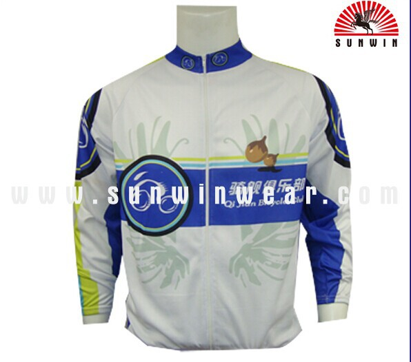 custom top quality long sleeve cycling jersey