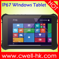 8 inch Window 10 IP67 Waterproof Rugged tablet pc 2D Barcode Scanner WCDMA 3G NFC tablet pc Winpad W82