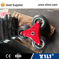"solid wheel for stair climbing hand trolley 6""x1.75"""