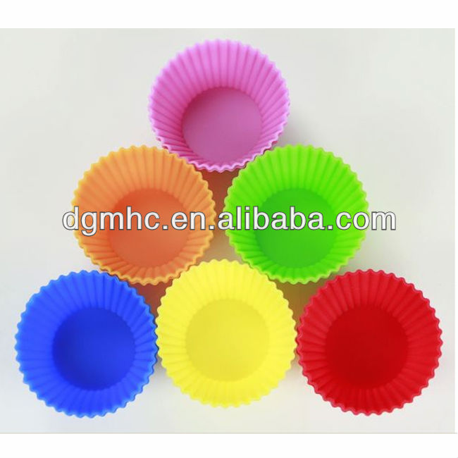 Bakeware set eco-friendly cupcake silicone molds