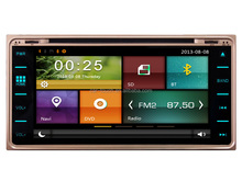 "Wholesales 6.95"" touch screen 2 din car dvd gps for Toyota Universal dvd player with gps/bluetooth/DVD/USB/SD/MP3/MP5"